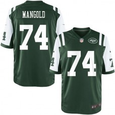 Youth New York Jets #74 Nick Mangold Team Color Game Jersey