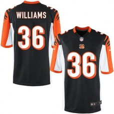Youth Cincinnati Bengals #36 Shawn Williams Team Color Game Jersey