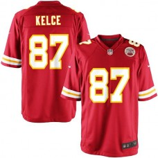 Youth Kansas City Chiefs #87 Travis Kelce Team Color Game Jersey