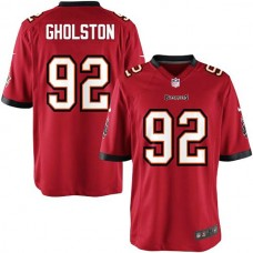 Youth Tampa Bay Buccaneers #92 William Gholston Team Color Game Jersey