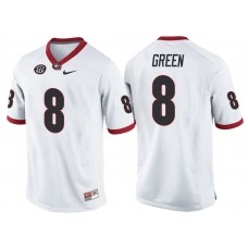 A.J. Green #8 Georgia Bulldogs White College Football Jersey