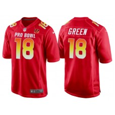 2018 Pro Bowl AFC Cincinnati Bengals #18 A.J. Green Red Game Jersey