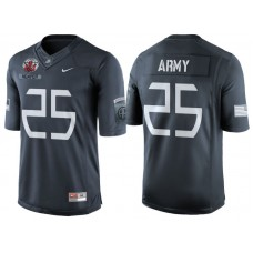 Aaron Kemper #25 Army Black Knights Anthracite Airborne Tribute College Football Jersey