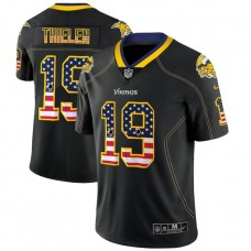 Minnesota Vikings #19 Adam Thielen Black 2018 USA Flag Fashion Color Rush Limited Jersey