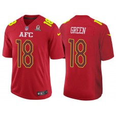2017 Pro Bowl AFC A.J. Green Red Game Jersey