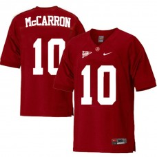 Alabama Crimson Tide #10 AJ McCarron Red Sec College Football Jersey