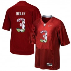 Alabama Crimson Tide #3 Calvin Ridley Crimson Portrait Pro Combat Fashion College Football Jersey