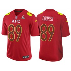 2017 Pro Bowl AFC Amari Cooper Red Game Jersey