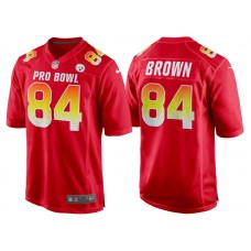 2018 Pro Bowl AFC Pittsburgh Steelers #84 Antonio Brown Red Game Jersey