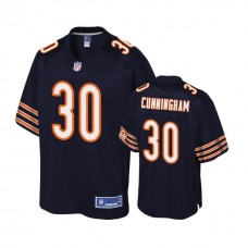 Youth Chicago Bears #30 Benny Cunningham Navy Player Pro Line Jersey
