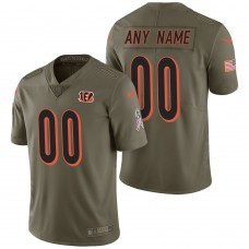 Cincinnati Bengals Olive 2017 Salute to Service Limited Customized Jersey