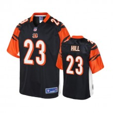 Youth Cincinnati Bengals #23 Brian Hill Black Player Pro Line Jersey