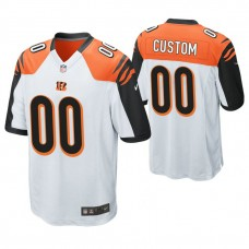 Cincinnati Bengals White Game Customized Jersey