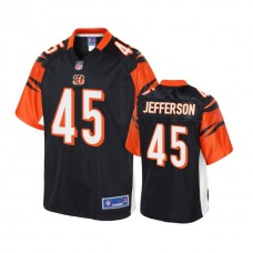 Youth Cincinnati Bengals #45 Malik Jefferson Black Player 2018 Draft Jersey