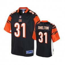 Youth Cincinnati Bengals #31 Sojourn Shelton Black Player Pro Line Jersey