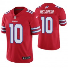 Buffalo Bills #10 AJ McCarron Red Vapor Untouchable Color Rush Limited Jersey