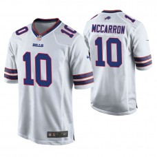 Buffalo Bills #10 AJ McCarron White Game Jersey