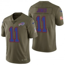Buffalo Bills #11 Zay Jones Olive 2017 Salute to Service Limited Jersey