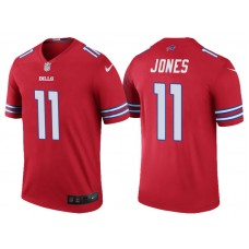Buffalo Bills #11 Zay Jones Red Color Rush Legend Jersey