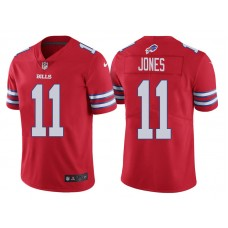 Buffalo Bills #11 Zay Jones Red Vapor Untouchable Color Rush Limited Jersey
