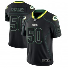 Green Bay Packers #50 Blake Martinez 2018 Lights Out Color Rush Limited Black Jersey