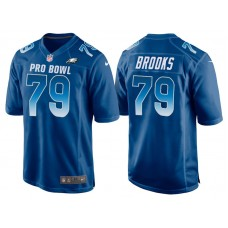 2018 Pro Bowl NFC Philadelphia Eagles #79 Brandon Brooks Royal Game Jersey