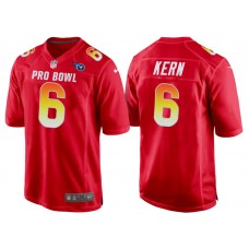 2018 Pro Bowl AFC Tennessee Titans #6 Brett Kern Red Game Jersey