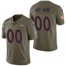 Denver Broncos Olive 2017 Salute to Service Limited Customized Jersey