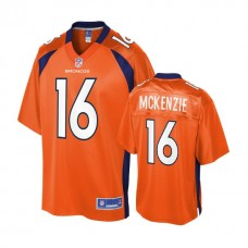 Youth Denver Broncos #16 Isaiah McKenzie Orange Player Jersey