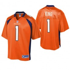 Youth Denver Broncos #1 Marquette King Orange Player Pro Line Jersey