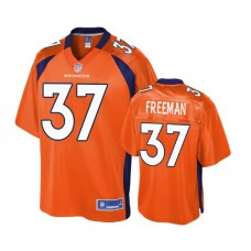 Youth Denver Broncos #37 Royce Freeman Orange Player 2018 Draft Jersey