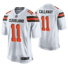 Cleveland Browns #11 Antonio Callaway White Game Jersey