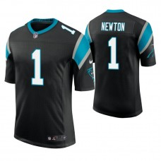 Carolina Panthers #1 Cam Newton Black Vapor Untouchable Limited Player Jersey