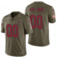 Arizona Cardinals Olive 2017 Salute to Service Limited Customized Jersey