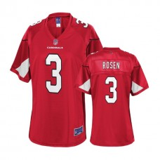 Women's Arizona Cardinals #3 Josh Rosen 2018 Draft Cardinal Player Jersey