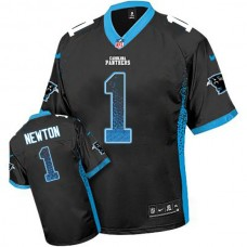 Carolina Panthers #1 Cam Newton Black Drift Fashion Jersey