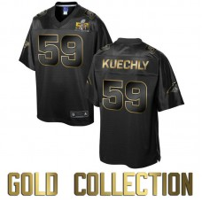 Carolina Panthers #59 Luke Kuechly Super Bowl 50 Black Gold Collection Jersey