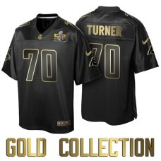 Carolina Panthers #70 Trai Turner Super Bowl 50 Black Gold Collection Jersey