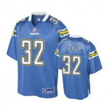 Youth Los Angeles Chargers #32 Justin Jackson Powder Blue Player Jersey