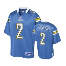 Youth Los Angeles Chargers #2 Shane Tripucka Powder Blue Player Jersey