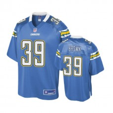 Youth Los Angeles Chargers #39 Tony Brown Powder Blue Player Jersey
