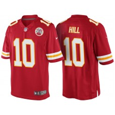 Kansas City Chiefs #10 Tyreek Hill Red Color Rush Limited Jersey - Light Up Thursday Night