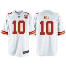Kansas City Chiefs #10 Tyreek Hill White Game Jersey