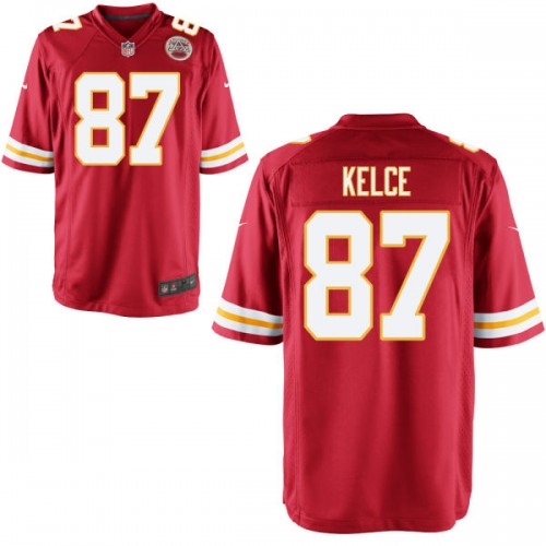 newest 1af27 81d37 Kansas City Chiefs #87 Travis Kelce Red Game Jersey