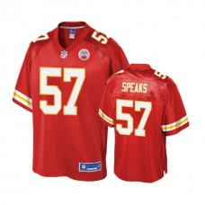 Youth Kansas City Chiefs #57 Breeland Speaks Red Player Jersey