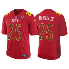 2017 Pro Bowl AFC Chris Harris Jr Red Game Jersey