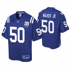 Youth Indianapolis Colts #50 Anthony Walker Jr. 35th Anniversary player Pro Line Royal Jersey