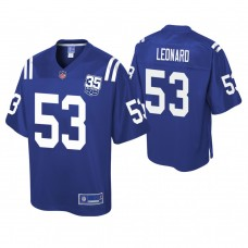 Youth Indianapolis Colts #53 Darius Leonard 35th Anniversary player Pro Line Royal Jersey