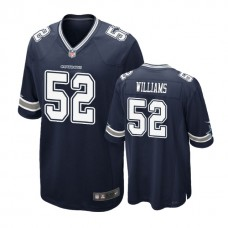 Dallas Cowboys #52 Connor Williams Navy 2018 Draft Pick Game Jersey
