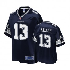 Youth Dallas Cowboys #13 Michael Gallup Navy Player 2018 Draft Jersey